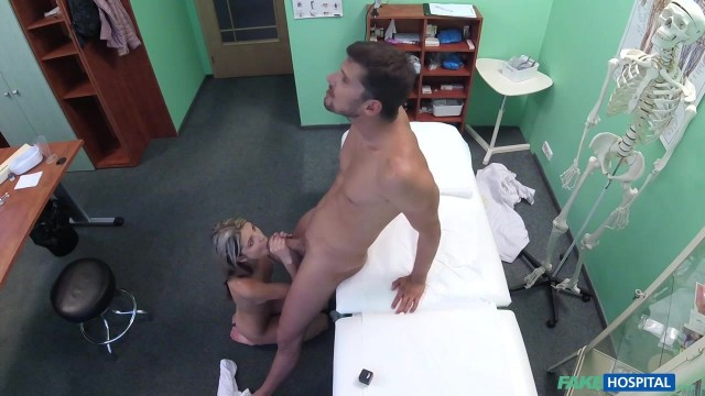 Russian skinny blonde Ginga Gerson in Fake Hospital Video thumb #11