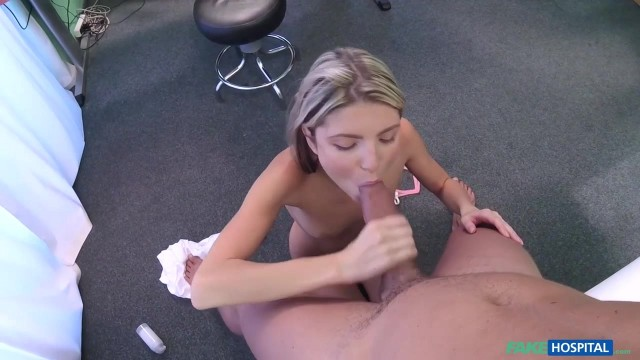 Russian skinny blonde Ginga Gerson in Fake Hospital Video thumb #1