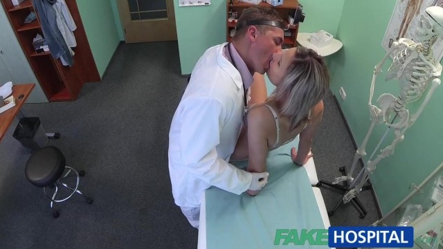 Blonde patient really wants doctor to fuck her holes Video thumb #0
