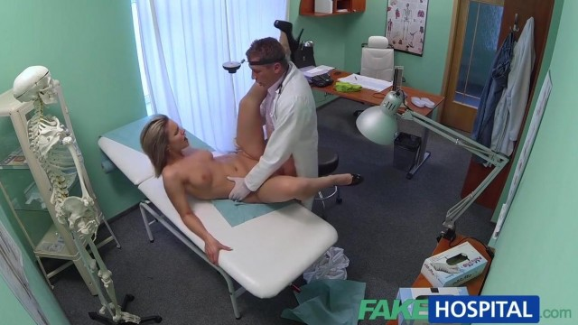 Blonde patient really wants doctor to fuck her holes Video thumb #11