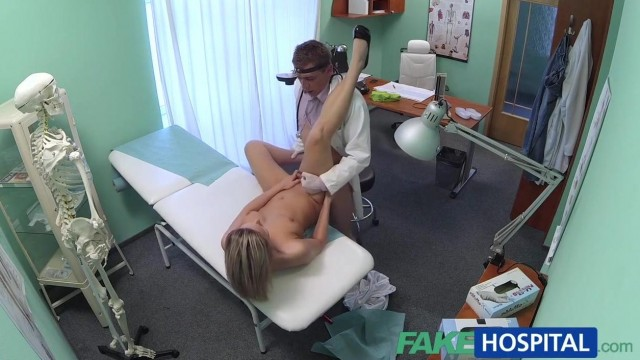 Blonde patient really wants doctor to fuck her holes Video thumb #18