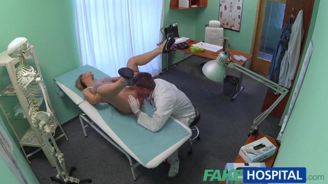 Blonde patient really wants doctor to fuck her holes Video thumb #5