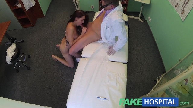 The porn doctor has sex with her patient in the fake hospital Video thumb #15
