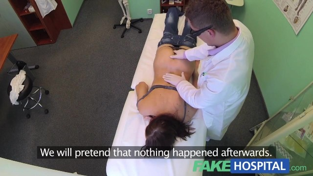 The porn doctor has sex with her patient in the fake hospital Video thumb #6