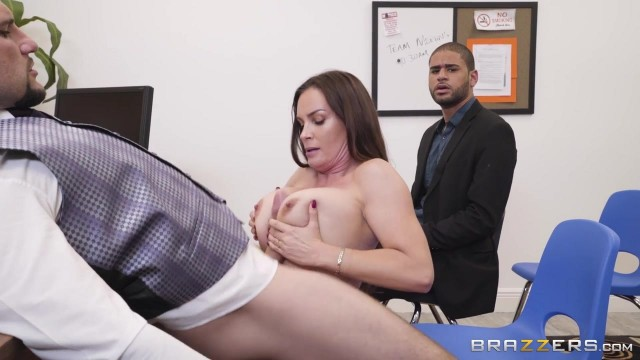 Busty MILF Diamond Foxxx appears in Brazzers movie HR Whorientation Video thumb #4