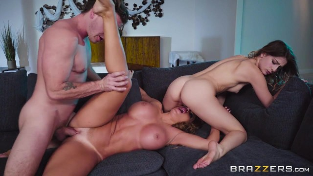 Kristen Scott gives her stepson a handjob and lick the pussy of his GF Video thumb #13