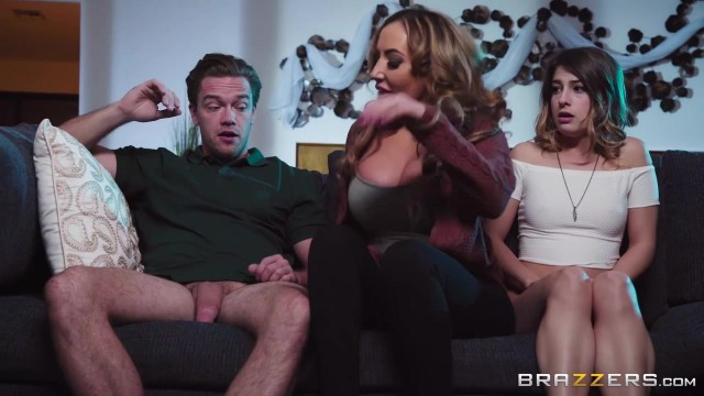 Kristen Scott gives her stepson a handjob and lick the pussy of his GF Video thumb #3