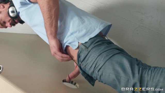 Two sluts share fat crooked Dick in the toilets - Charles Dera Video thumb #1