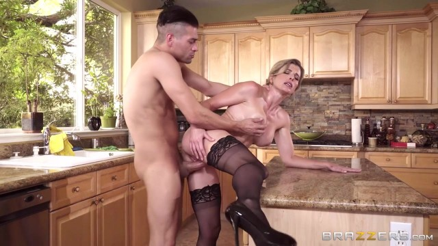 Cory Chase Porn Videos - Busty MILF nailed in the kitchen Video thumb #5