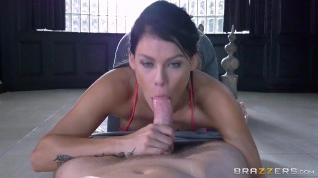 Peta Jensen shocked by huge bulge of her yoga instructor Video thumb #11