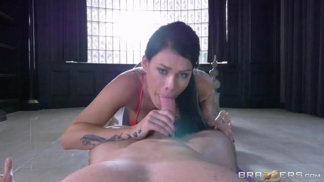 Peta Jensen shocked by huge bulge of her yoga instructor Video thumb #8