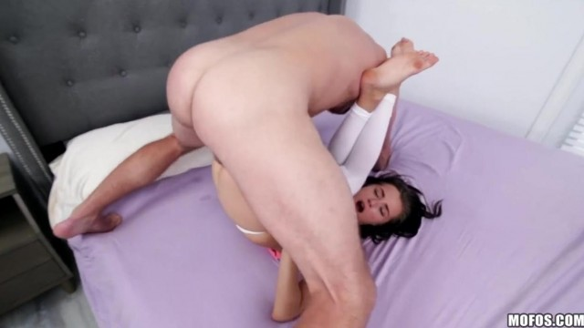 Petite Teen Carolina Sweets is amazed by big veiny cock Video thumb #9