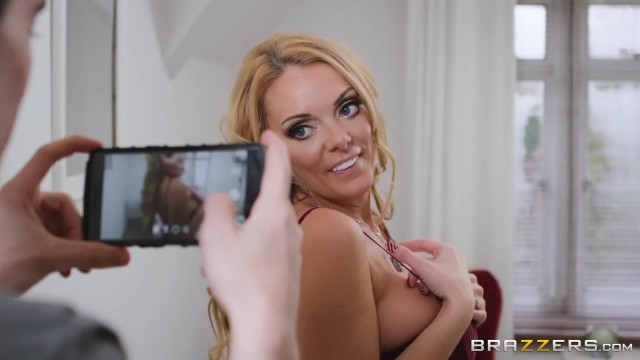 Stepmom with 36G boobs Stacey Saran rides on her stepson big strong cock Video thumb #1