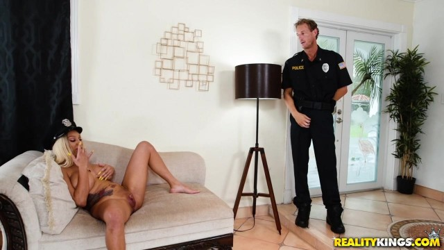 MILF Housewife Yello Bangs Police Officer Video thumb #2
