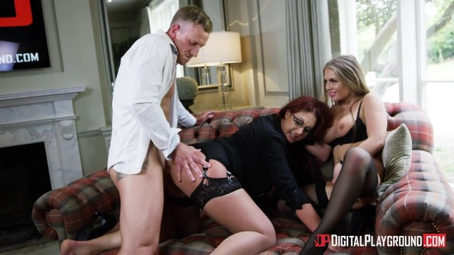 Alessandra jane and Emma Butt threesome sex