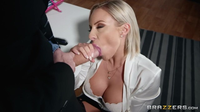 Busty Blonde MILF Sucks and Fucks Video thumb #3