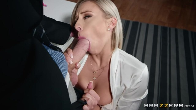 Busty Blonde MILF Sucks and Fucks Video thumb #5