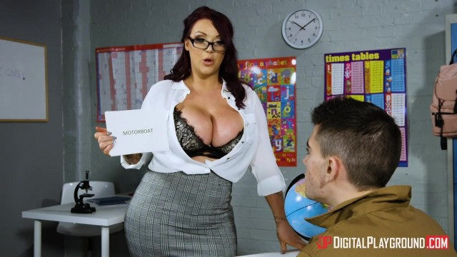 Harmony Reigns flashes her huge tits to her student Jordi El Nino Polla Video thumb #0