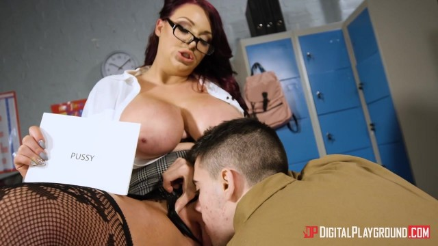 Harmony Reigns flashes her huge tits to her student Jordi El Nino Polla Video thumb #3