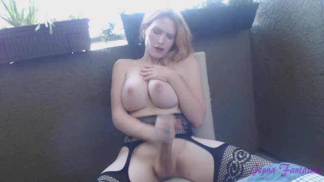 Big tit blonde shemale jerking off Video thumb #16