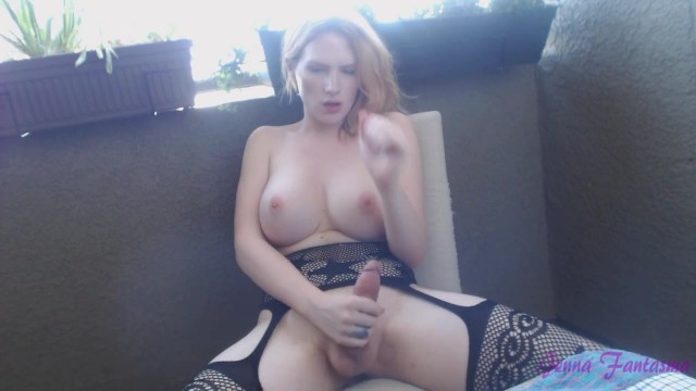 Big tit blonde shemale jerking off Video thumb #17