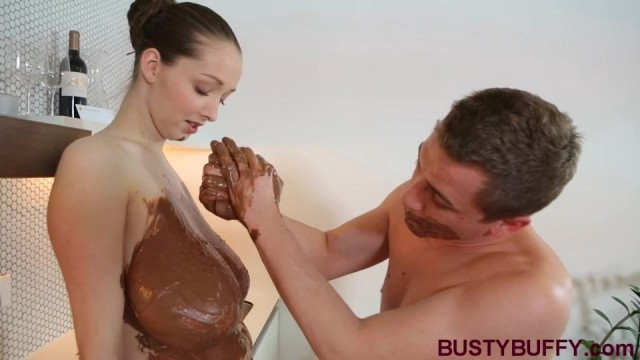 Busty Buffy Chocolate and Cumshot Video thumb #6