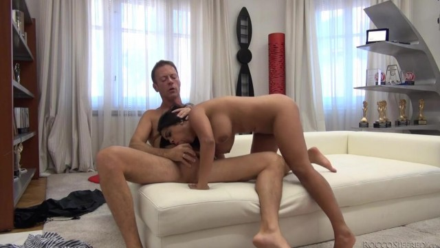 Kesha Ortega does reverse cowgirl on Rocco Siffredi's big cock Video thumb #2