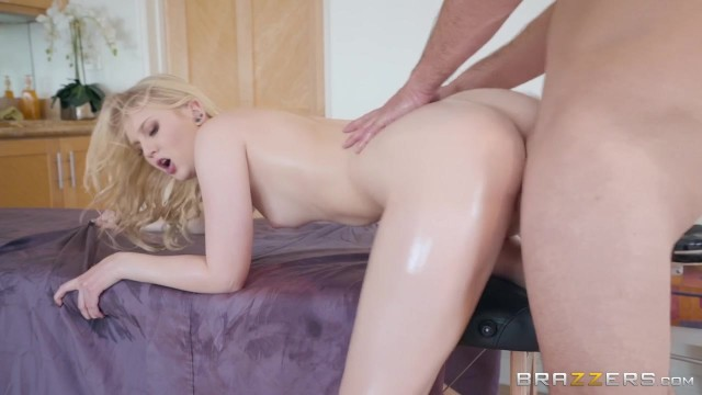 Pervert Masseur with big cock screws Lily Rader