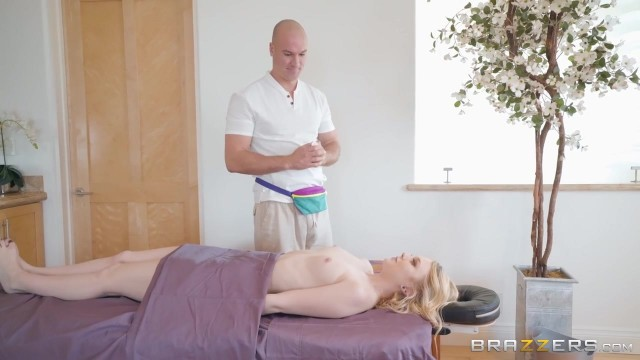 Pervert Masseur with big cock screws Lily Rader Video thumb #1