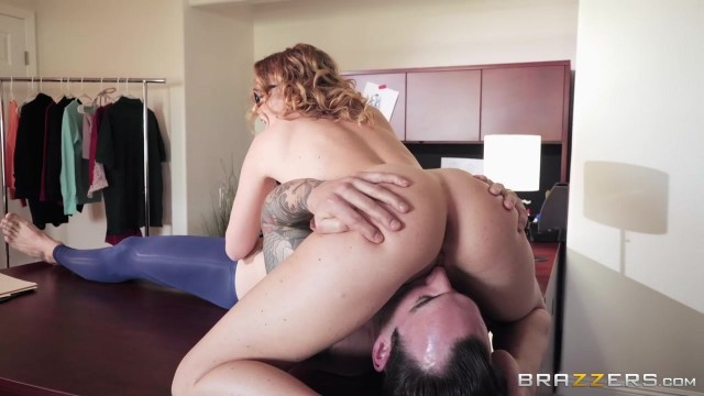 Curly MILF Krissy Lynn fucked on the desk Video thumb #0