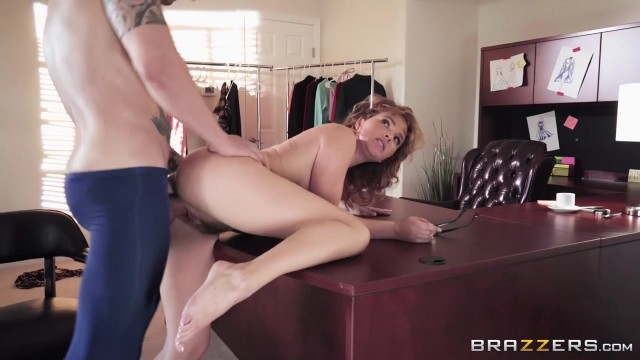 Curly MILF Krissy Lynn fucked on the desk Video thumb #10