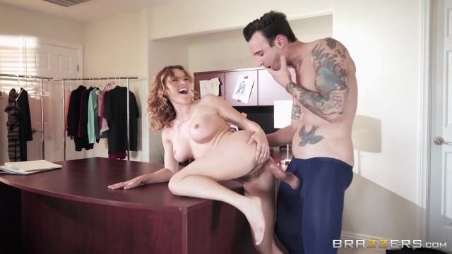 Curly MILF Krissy Lynn fucked on the desk Video thumb #12