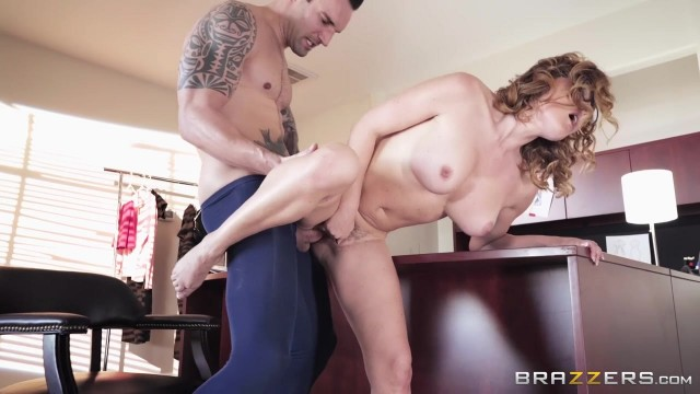 Curly MILF Krissy Lynn fucked on the desk Video thumb #8