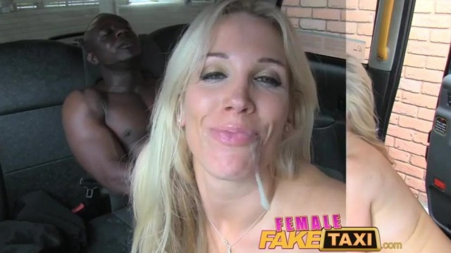 FemaleFaxiTaxi - Interracial blowjob , facial and group sex in taxi Video thumb #4