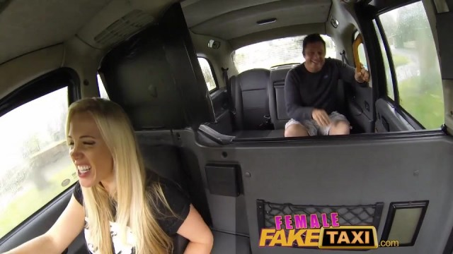 Fake Blonde Female taxi driver creampied Video thumb #0