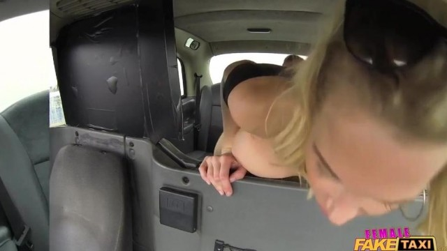 Fake Taxi Female driver gives Head on the backseat