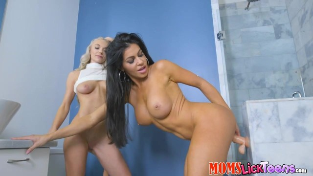 Nikki Capone and Molly Mae compete with dildo Video thumb #2