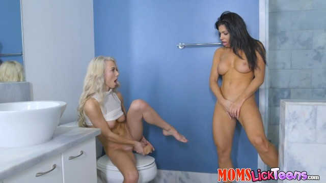 Nikki Capone and Molly Mae compete with dildo Video thumb #6