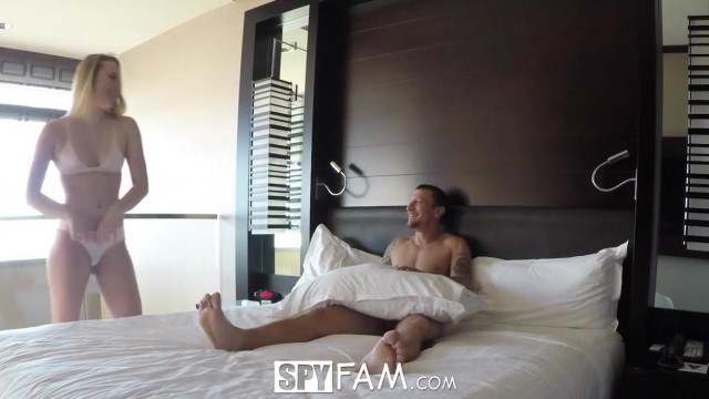 SpyFam - Stepsister Alyssa Cole fucked by step brother Video thumb #0