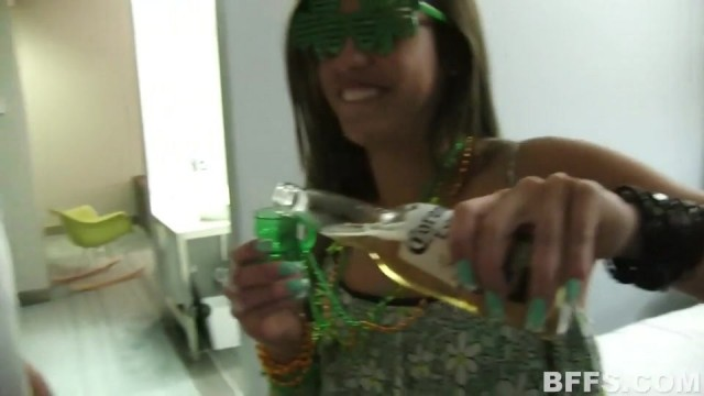 St Patricks Day with 4 drunk teens Video thumb #1
